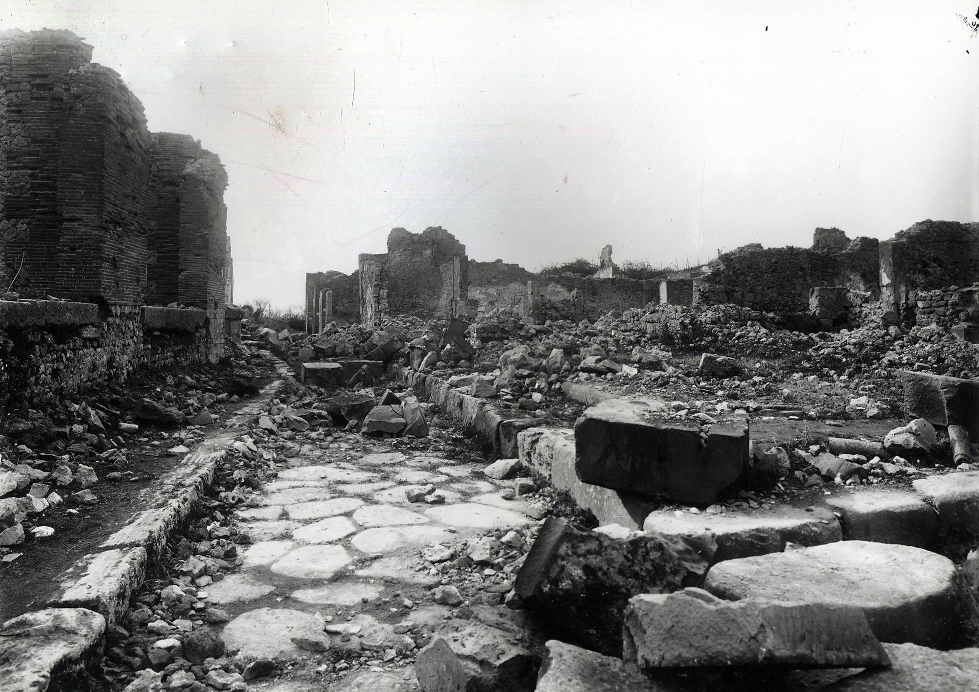 Daños de guerra en Pompeya