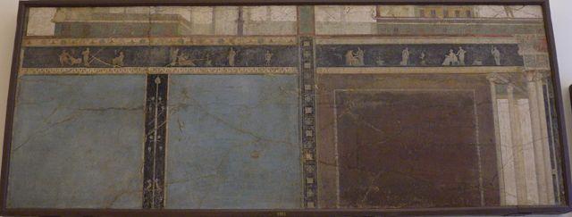 Casa del Peristilo desde la Via dei Soprastanti