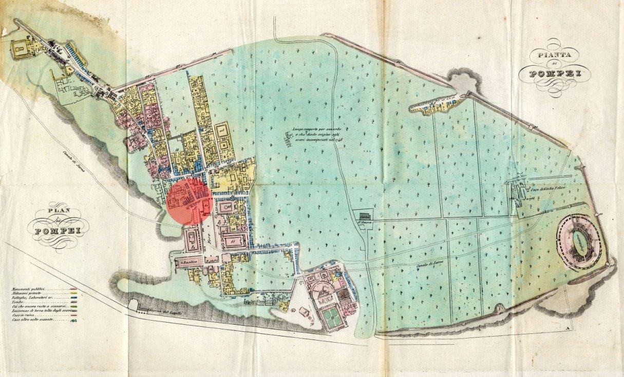 Plano de Pompeya de Ferdinando Artaria