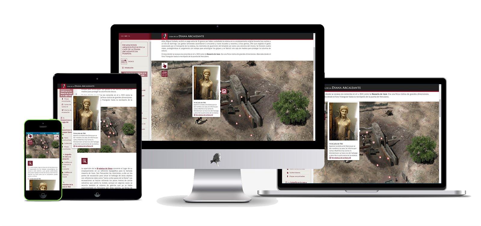 Muestra del diseño responsive de la nueva web, adaptado a distintos dispositivos