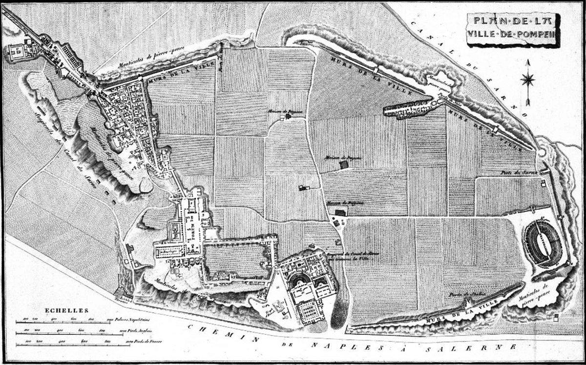 Plano de Pompeya de H. Wilkins