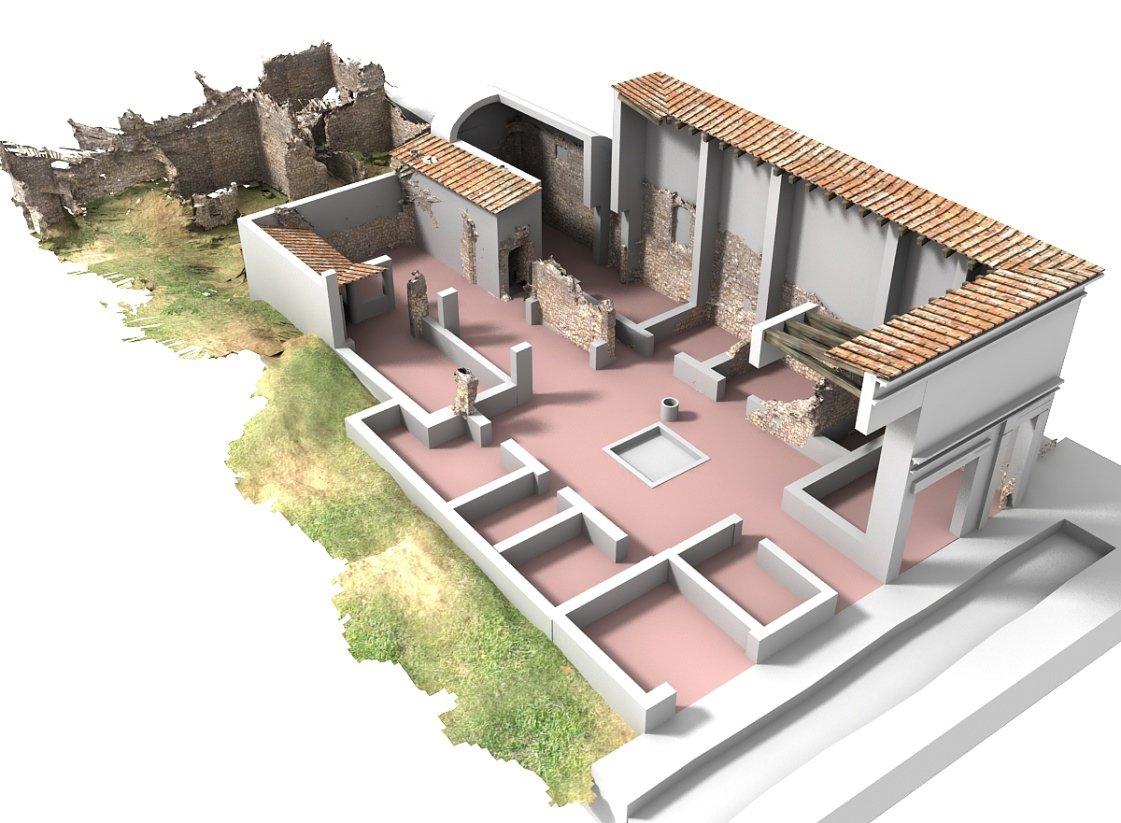 Reconstrucción estancias casa de la Diana Arcaizante